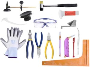 Professional 16 Pieces Mosaic tile and Stained Glass Start-up Tool Kit