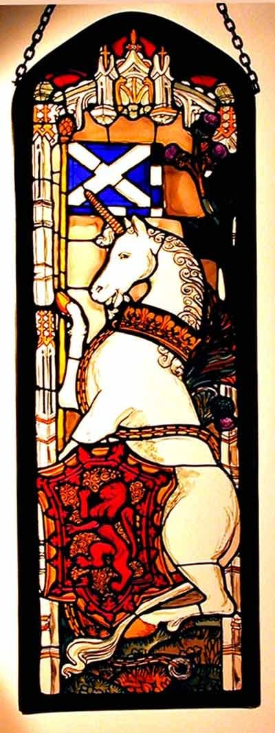 Decorative Hand Painted Stained Glass Window Rectangular