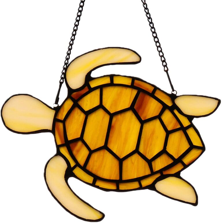 HAOSUM Tortoise Stained Glass Window Hangings Ornament