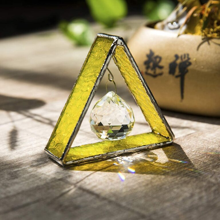 Stained Glass Pyramid Sun Catcher
